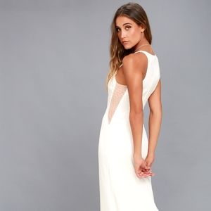 Lulu's Lovely White Maxi Dress